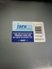 Janico 23 Gallon Half Round Trash Can Lid Swing Door , drop in spring top.Gray..