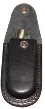 Étui couteau de poche cuir noir