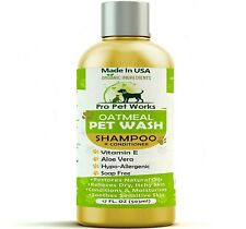 New listing All Natural Oatmeal Dog Shampoo + Conditioner For Dogs
