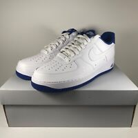 Nike Air Force 1 '07 1 Low White Deep Royal Blue CD0884-102 Men's Size 9, 4Y, 7Y