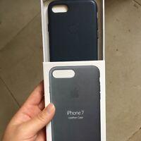 """MIDNIGHT BLUE BLAU ECHT NEU ORIGINAL Apple Leather Case Lederhülle iPhone 7 4.7"""""""