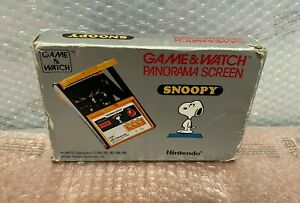 Game e watch panorama screen snoopy SM-91 boxed 1983 Game & Watch NINTENDO