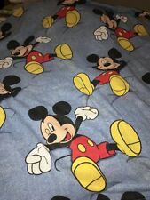 Vintage Disney Mickey Mouse Twin Flat Sheet Bedding Character Linens Htf