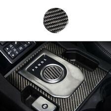 Fit For Jaguar XE 2016-2019 Real Carbon Fiber Console Gear Shift Knob Sticker