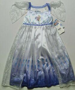 Disney Frozen II Elsa Toddler Size 2T Princess Fantasy Nightgown Dress NEW