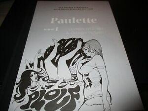 """BD """"PAULETTE TOME 1 : """"GEORGES WOLINSKI & PICHARD - bande dessinee erotique N°57"""
