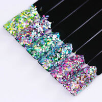 Holographic Nail Sequins Rhombus Hexagon Flakes Paillette Powder Tip Born Pretty