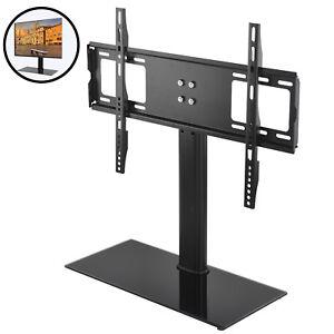 """UK Adjustable 32""""-55"""" Table Top TV Stand Bracket Pedestal LCD LED VESA Bracket"""