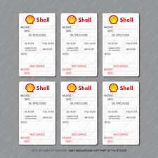 12 x  Shell Oil Change Service Reminder Stickers for Cars Trucks Vans - SKU2881