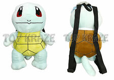 "POKEMON SQUIRTLE PLUSH BACKPACK! AQUA GREEN LARGE STUFFED DOLL TOY BAG 13"" NEW"