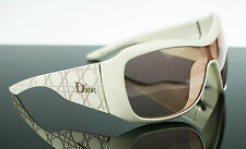 RARE NEW Authentic Christian DIOR Cannage 1 Solid White Pink Sunglasses ATURG