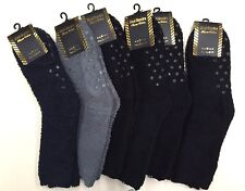 6 Pairs Micro Fibre Fluffy Soft Warm Winter Bed Socks Non Slip 6-11 New