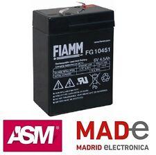 Batería de plomo - 6V 4,5Ah - FIAMM FG10451 - 70X47X102mm