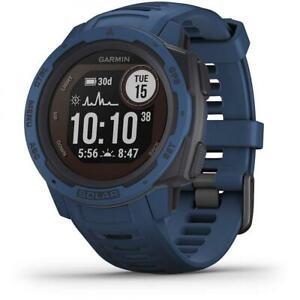 Garmin INSTINCT SOLAR Smartwatch Watch Silicone Blue GPS 010-02293-01