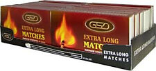 GSD EXTRA LONG MATCHES PACKS FOR OUTDOOR COOKING BBQ CAMPING CANDLES MATCHBOXES