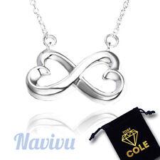 925 Silber Halskette Infinity Symbol Unendlichkeit Liebe Anhänger Schmuck