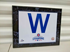 Chicago Cubs 2016 World Series 10 1/2 x 13 Plaque With Licensed Photo W Sign