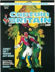 CAPTAIN BRITAIN #4 - ALAN DAVIS ART & COVER - MARVEL COMICS UK/1984