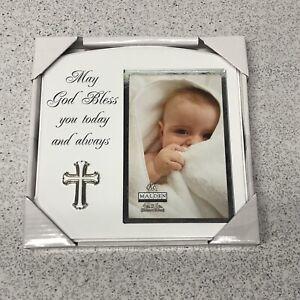 Malden International Designs Baptism Christening Picture Frame 4X6 #4710-46 NEW