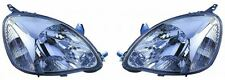 Toyota Yaris 2003-2006 Chrome Front Headlight Headlamp Pair Left & Right