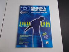 *  AMERICAN IDOL-BROADWAY/MOVIE SONGS-COACH-CD-MINT -songbook PIANO/VOCALCHORDS