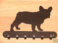 French Bulldog LEASH RACK Hat Key Hook Wall K9 Dog Pet