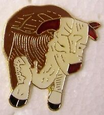 Hat Lapel Pin Scarf Clasp Animal Brown Bull NEW