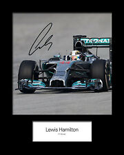 LEWIS HAMILTON #2 Signed Photo Print 10x8 Mounted Photo Print - FREE DELIVERY