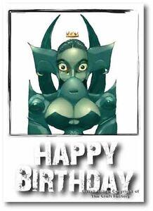 Birthday Card -  Mad and Rad Range - The Princess PB003 - Blank Card