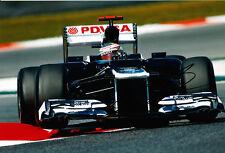 Pastor Maldonado mano firmato F1 2012 WILLIAMS-RENAULT FOTO 12X8 11.