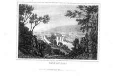 VALE OF TAFF GLAMORGAN  ENGRAVING  DRAWN FOR DUGDALES c1845