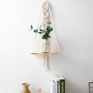 Macrame Plant Hanger Hanging Shelves Handmade Wall Decor Flower Pot Holder