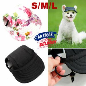 Dog Baseball Cap Summer Canvas Puppy Size S-L Pet Sun Hat Visor Outdoor