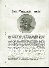 2 Stück WERBEBLÄTTER: BLATTFÜHRUNG FÜR BANDSÄGEN + ANERKENNUNGSSCHREIBEN, 1913