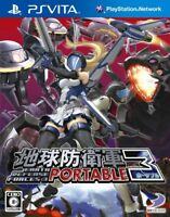USED ps vita earth defense forces 3 portable sony playstation