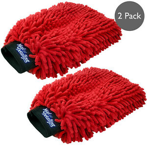 Microfiber Noodle Wash Mitt Thick Ultra Soft Car Washing Cleaning Sponge 2 Pack