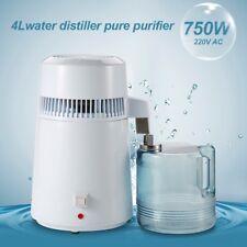 4L Pure Water Distiller Purifier Stainless Steel Internal Water Filter 750W
