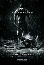 THE DARK KNIGHT RISES Double Sided Advance ORIGINAL MOVIE POSTER Christian Bale