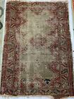 "Antique Handmade Ethnic Native Tribal Oriental Geometric Carpet Rug 41x29"""