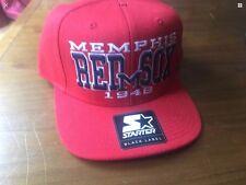 Nuovo con etichette STARTER Memphis Red Sox 1948 Classic Cappellino-rosso