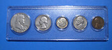 1960 US Coin Year Set 5 Coins 90% Silver