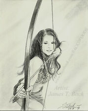 Penny Huntress in Cat fur Female hunter archer bow primitive primal native