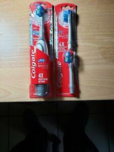 Colgate 360 OPTIC White Platinum SOFT Toothbrush Blue +2 Replacement Brush Heads