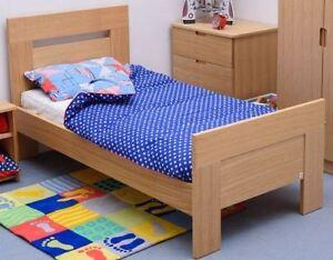 Children's Oakhouse Oak Wooden Kids Single Luxury Bed Treehouse Furniture