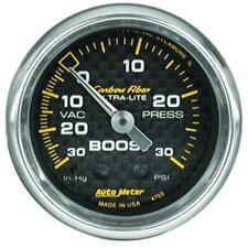 Autometer Carbon Fiber 52mm 30PSI Mechanical Boost Gauge