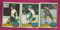 1980-81 OPC NORTH STARS EAVES RC+ CHRISTOFF RC + HARTSBURG RC  CARD (INV# A7270)