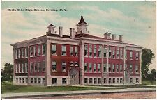 North Side High School in Corning NY Postcard 1911