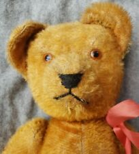 Large! 21� Straw Filled Antique American Mohair Teddy Bear Fully Jointed