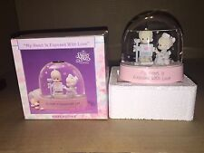 """RARE •Precious Moments Waterdome  """"My Heart is Exposed with Love"""" NEW"""