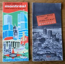 Street Guide & Tourist Map Montreal and Sightseeing Guide 2 Brochures Vintage